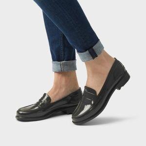 🆕Hunter Dark Grey Rubber Penny Loafers